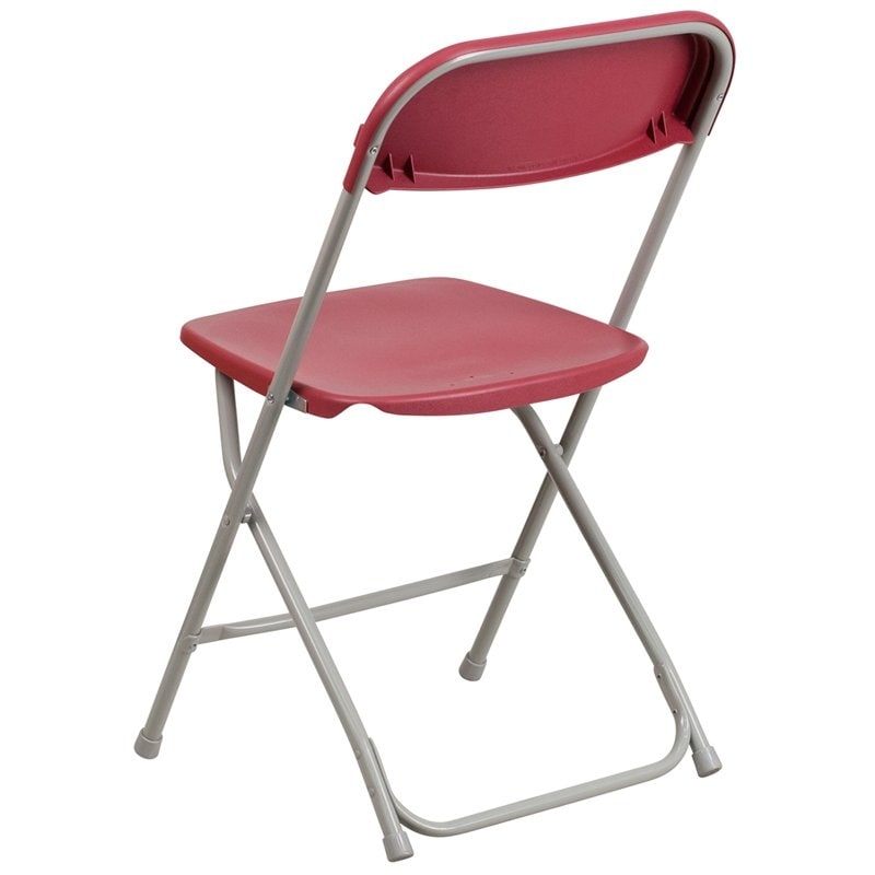 Rivera Heavy Duty Plastic Folding Chair, Red   Free Shipping On Orders Over  $45   Overstock.com   26305405