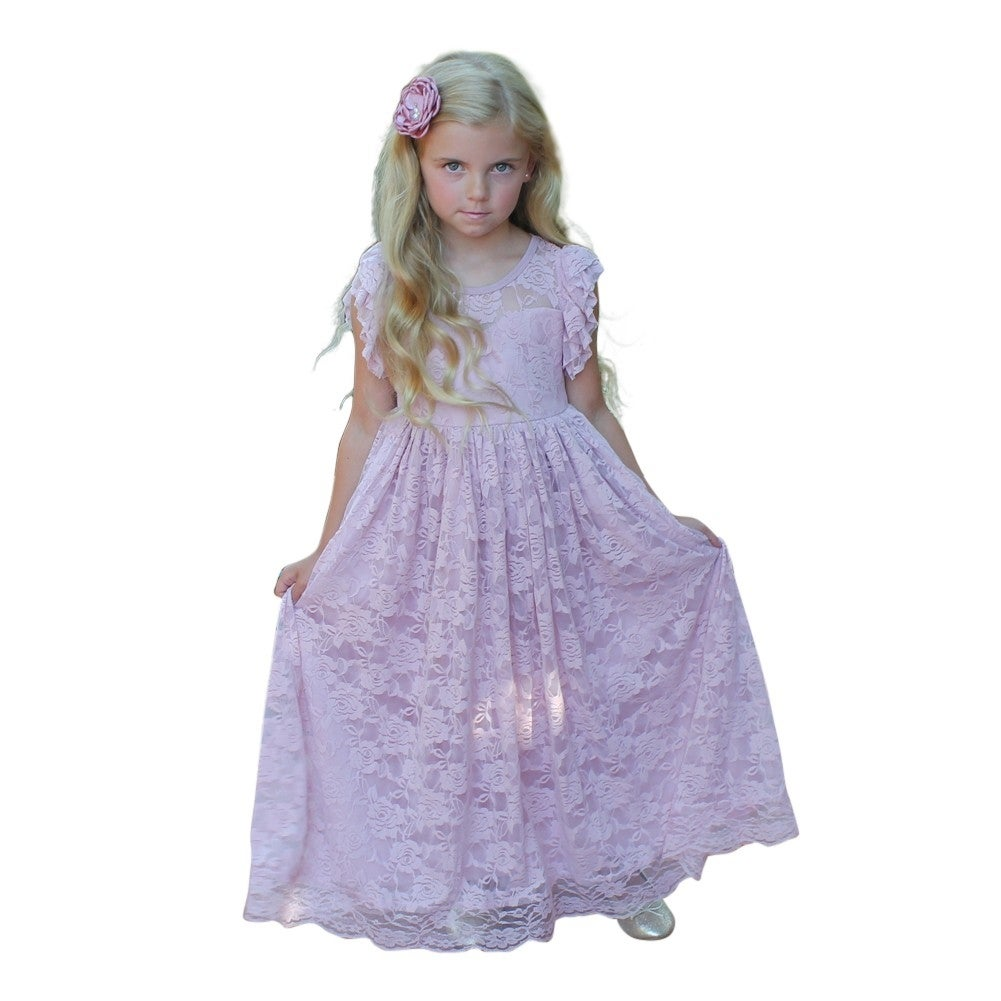 4f68559b4f Shop Think Pink Bows Baby Girls Blush Closed Back Stella Flower Girl Dress  1Y - Free Shipping Today - Overstock - 18162640