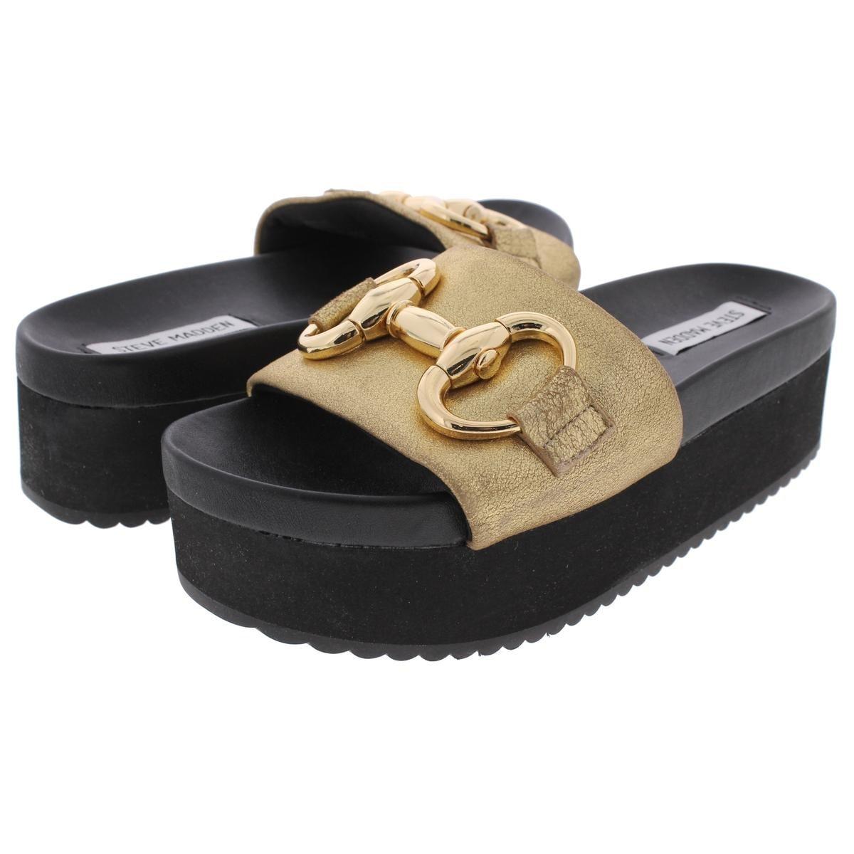 c92d4f9cd06 Shop Steve Madden Womens Jericho Slide Sandals Open Toe Embellished - Ships  To Canada - Overstock - 20742753