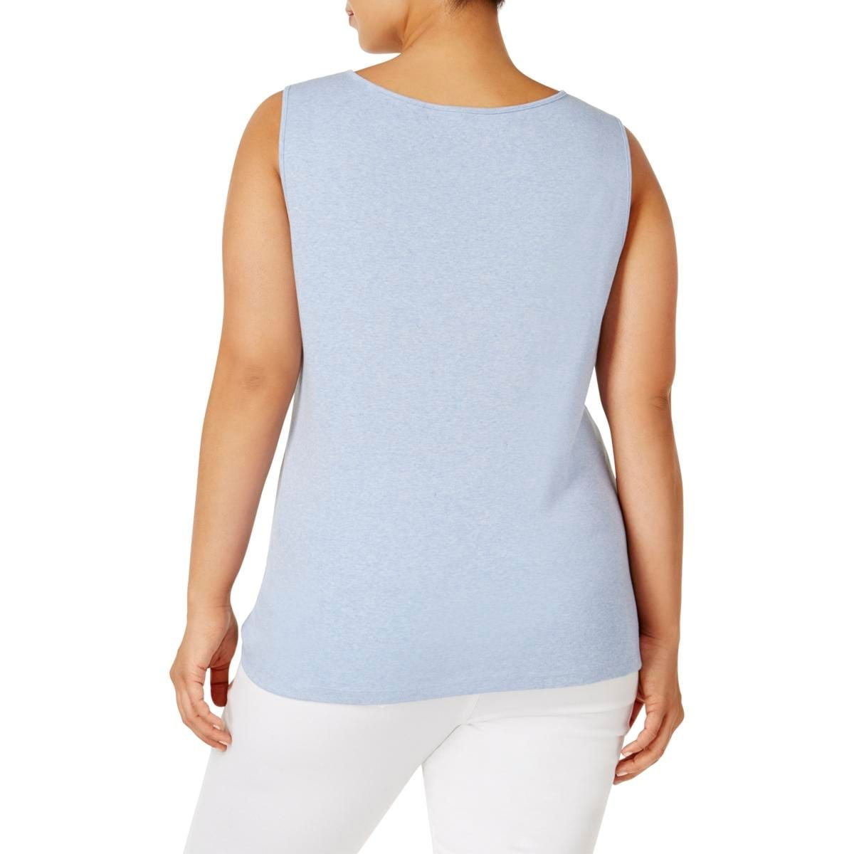 e5ff3ed918ae51 Shop Karen Scott Womens Plus Tank Top Cotton Square Neck - Free Shipping On  Orders Over  45 - Overstock - 20881398