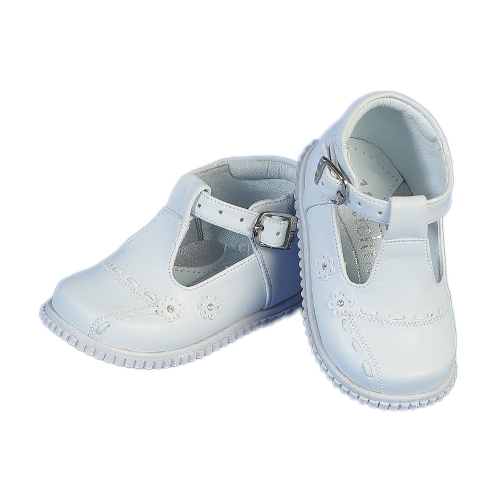 f3992409fb25 Shop Angels Garment Toddler Girls White Buckle Flowers Easter Shoes 4-5 -  Free Shipping On Orders Over  45 - Overstock - 25599815