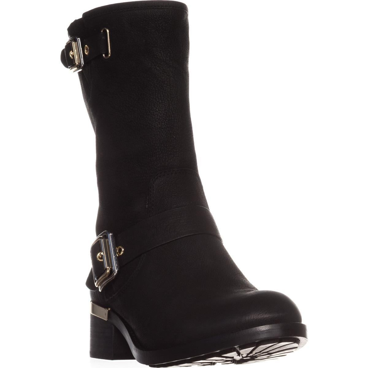92795ed70a2 Shop vince camuto windy mid calf motorcycle boots black leather jpg  1200x1200 Vince camuto tall shaft