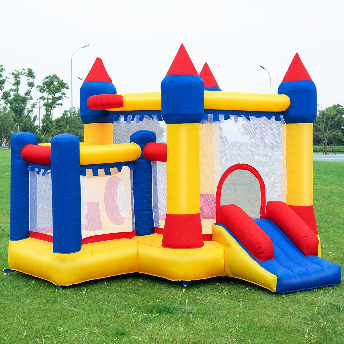 20bab4cd0 Shop Costway Inflatable Bounce House Castle Kids Jumper Slide ...