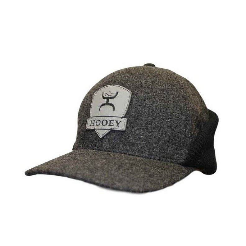 Shop HOOey Hat Mens Knit Ear Flaps Out Cold Flex Fit Gray Black 1712 -  Ships To Canada - Overstock - 17821944 5c85cfaf72e7