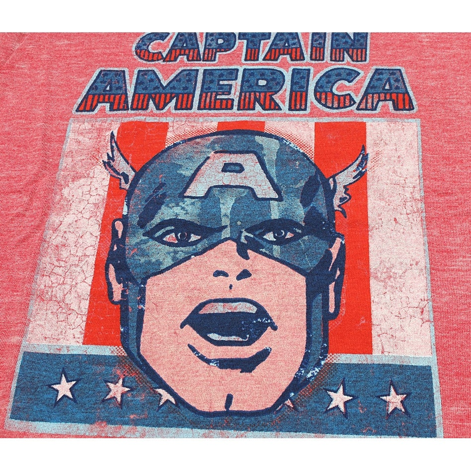 fd32ae1e3 Shop Marvel Comics Captain America Head Flag Burnout Toddler T-Shirt - Free  Shipping On Orders Over $45 - Overstock - 20527020
