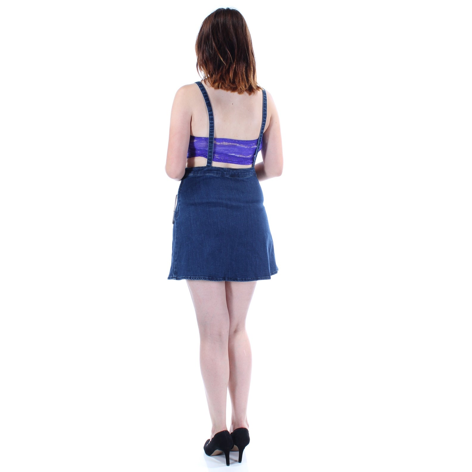 c18928c1066d Shop GUESS Womens Blue Side Zip Sleeveless Square Neck Above The Knee Pencil  Skirt Size  6 - Free Shipping On Orders Over  45 - Overstock.com - 24058068