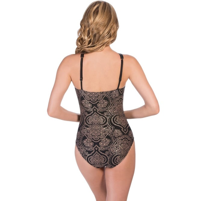 58e4d73365 Shop Magicsuit Bandana Bonnie High Neck Underwire One Piece Swimsuit - Black  - Free Shipping Today - Overstock - 17662315
