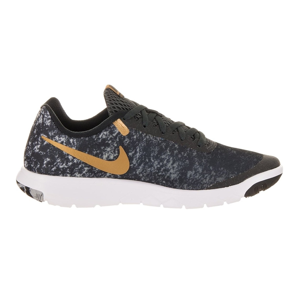 4600f4e07fe5 Shop Nike Flex Experience RN 6 Premium Black Metallic Gold Anthracite White  Women s Running Shoes - Free Shipping Today - Overstock - 17950006