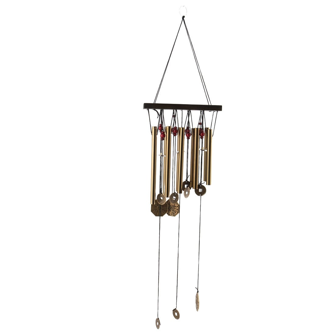 Unique Bargains Home Metal Tubes Coin Hanging Birthday Gift Wind Chime Bell  Windbell Bronze Tone - Free Shipping On Orders Over $45 - Overstock.com -  ...