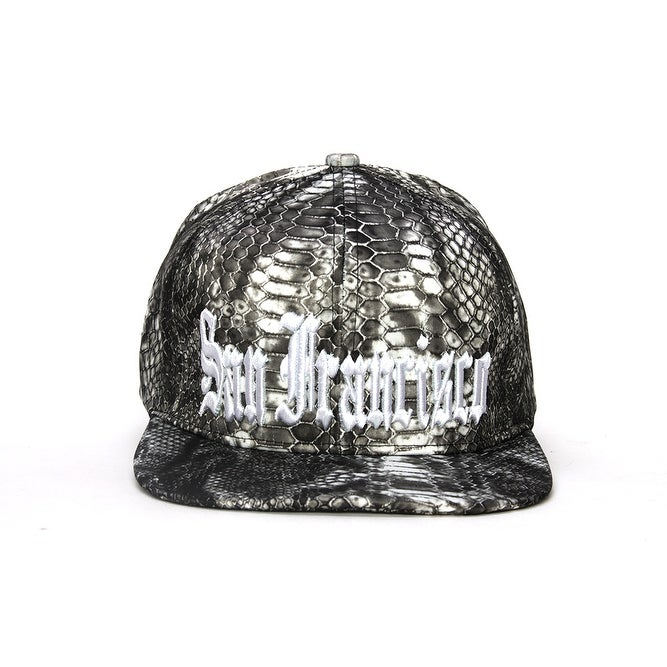 City Snakeskin Design Olde English Adjustable Baseball Cap - Free Shipping  On Orders Over  45 - Overstock.com - 23237137 3a6c8078a60