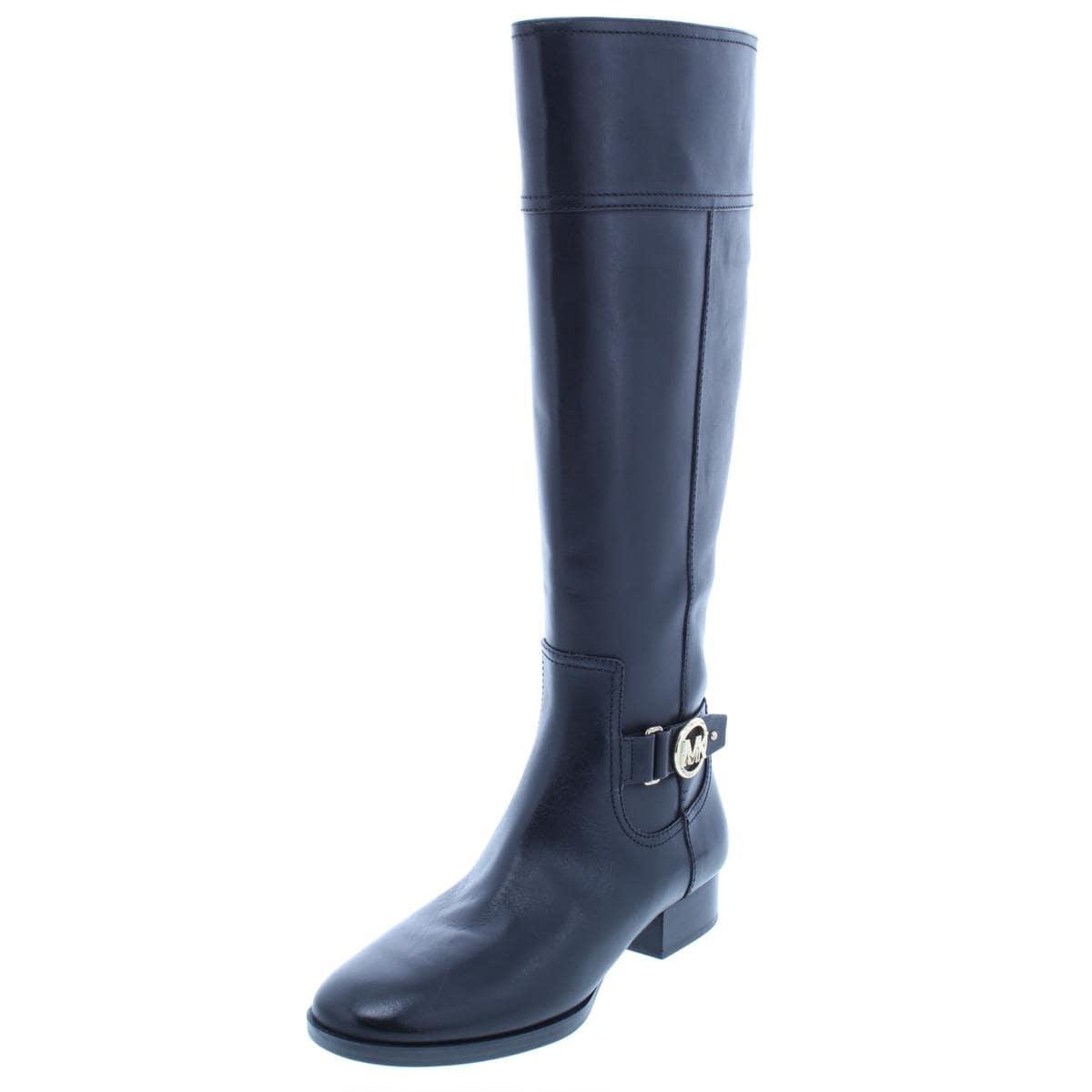 9e178dea4993 Shop MICHAEL Michael Kors Womens Harland Riding Boots Leather Knee ...