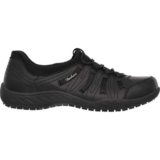 805bbe6089db Shop Skechers Women s Work Relaxed Fit Rodessa Slip Resistant Shoe Black -  Free Shipping Today - Overstock - 12748019