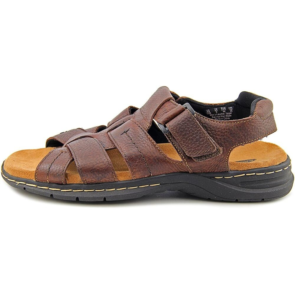 412482d62bf5 Shop Dr. Scholl s Cain Men Open-Toe Leather Brown Fisherman Sandal - Free  Shipping Today - Overstock - 13844454
