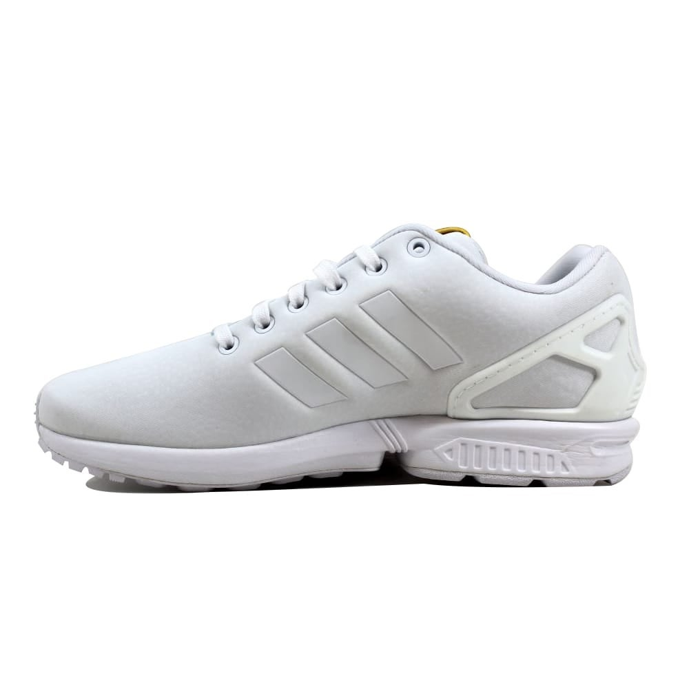 5a4885fb1 Shop Adidas Women s ZX Flux W White White-Gold BY9216 - On Sale - Free  Shipping Today - Overstock - 23437021