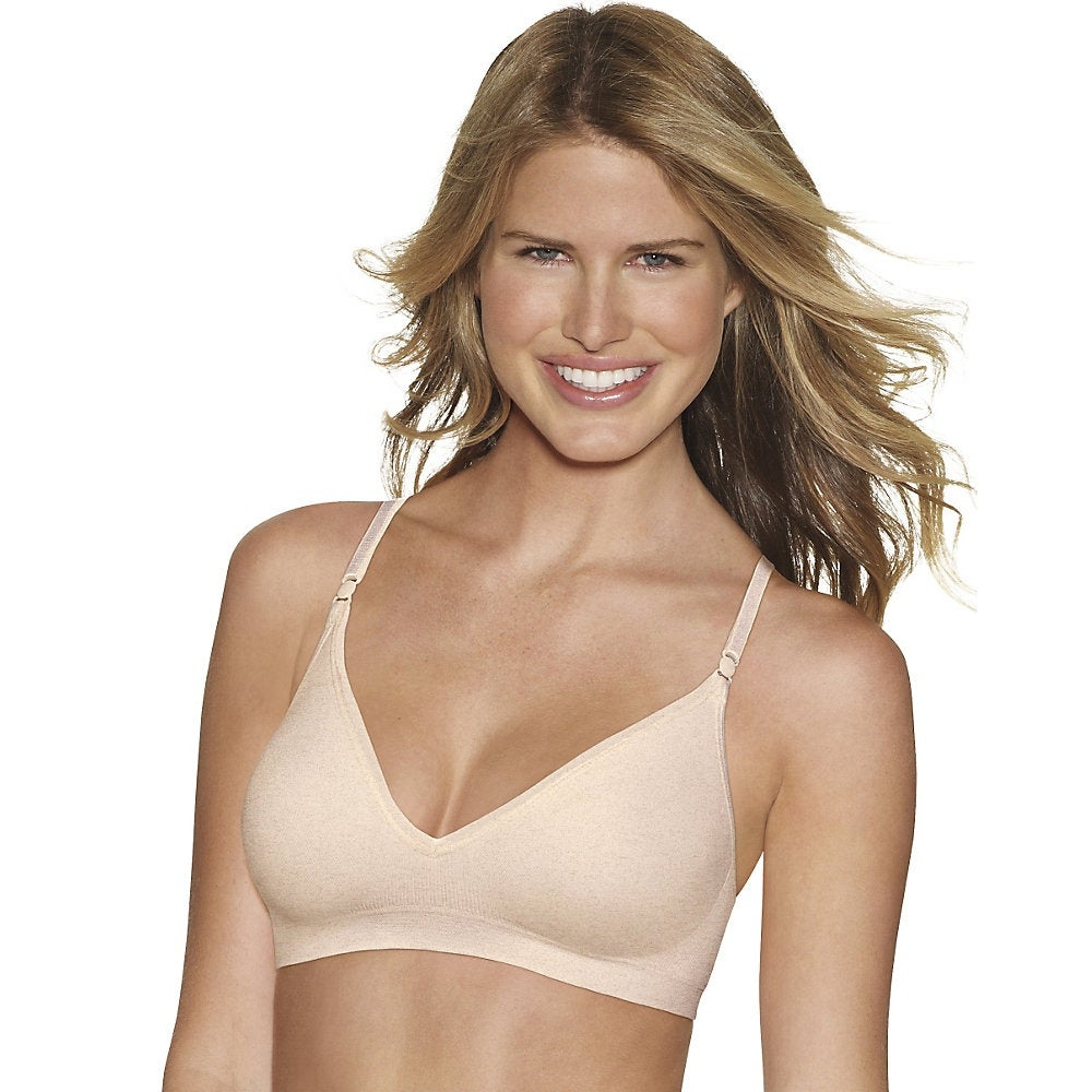 8043d15a2 Shop Hanes Comfy Support ComfortFlex Fit® Wirefree Bra - Size - XL - Color  - Nude Heather - Free Shipping On Orders Over  45 - Overstock - 13874951