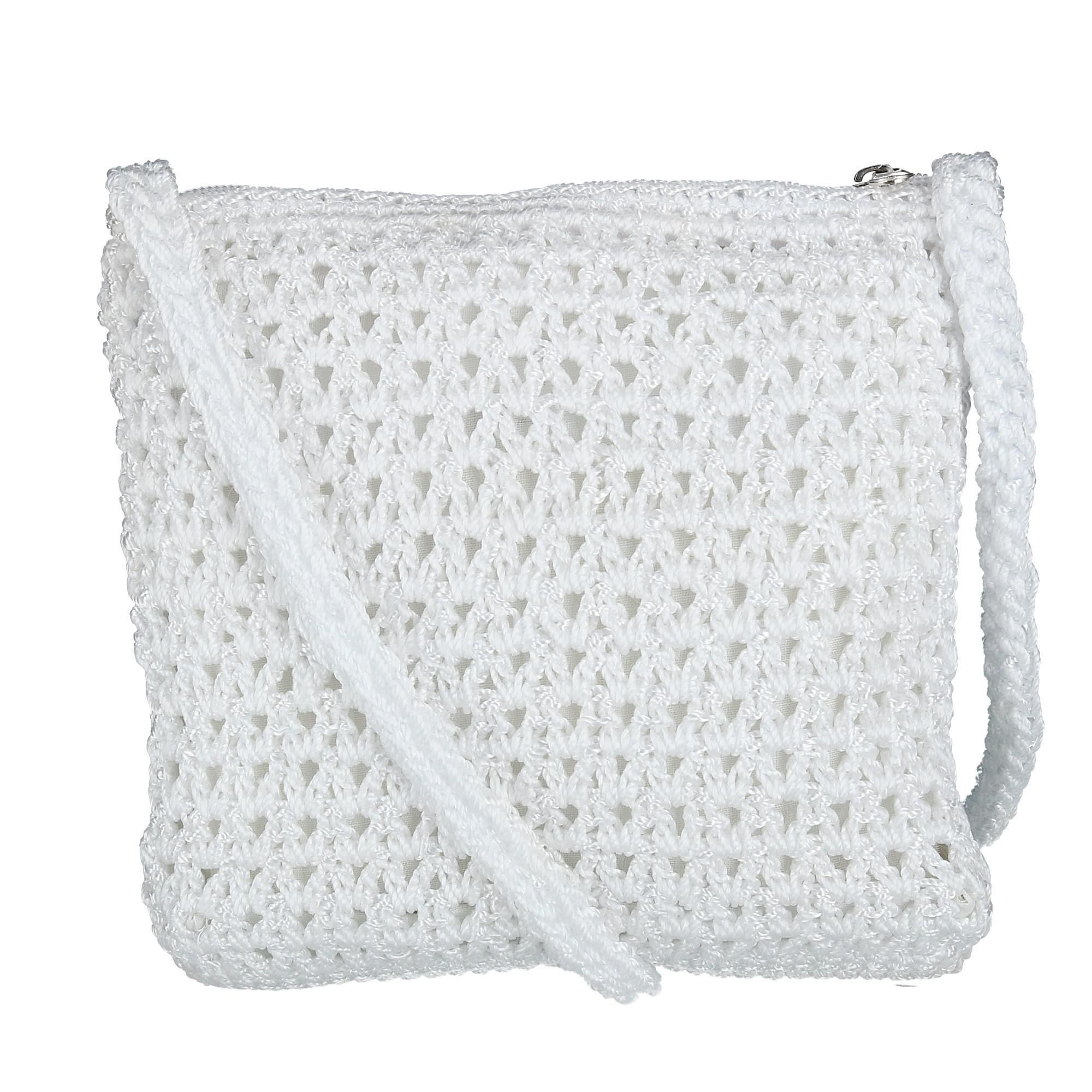 Shop Ctm Womens Crochet Crossbody Handbag Free Shipping On