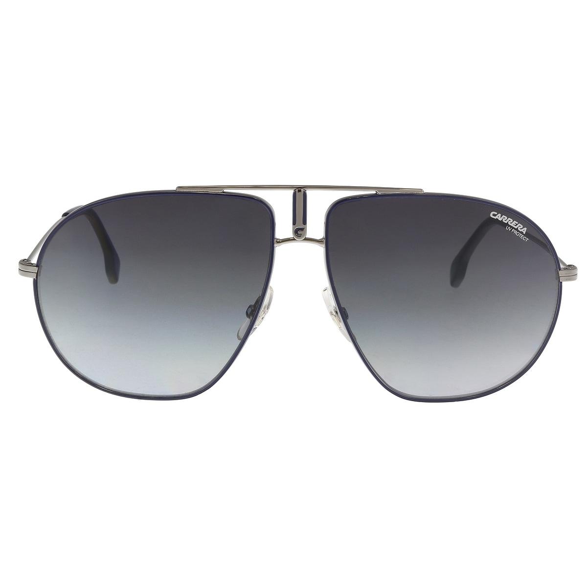 dd542ac74 Shop Carrera BOUNDS 0DTY-90 Blue Ruthenium Aviator Sunglasses - 60 ...