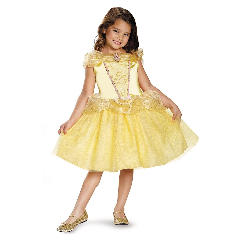 Shop Girls Classic Belle Disney Princess Costume - Free Shipping On ...