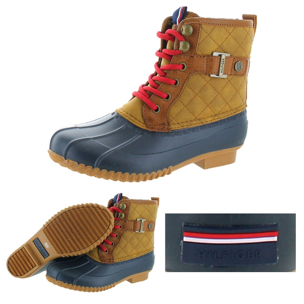 aa676f5615b49a Shop Tommy Hilfiger Ravel 2 Women s Quilted Duck Boots - Free Shipping  Today - Overstock - 19551700