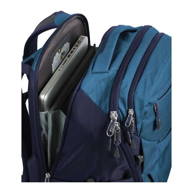 f1239bc9b656 Shop The North Face Router Backpack Dish Blue Light Heather Urban Navy - US  One Size (Size None) - Free Shipping Today - Overstock - 27545952