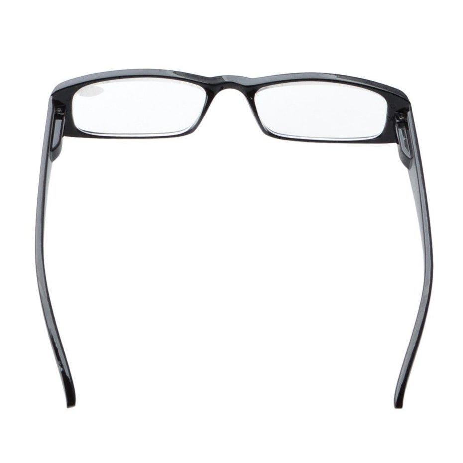 6f42b7b22183 Shop Eyekepper Spring Hinges Rectangular Reading Glasses Readers Black +4.0  - Free Shipping On Orders Over  45 - Overstock - 16021819