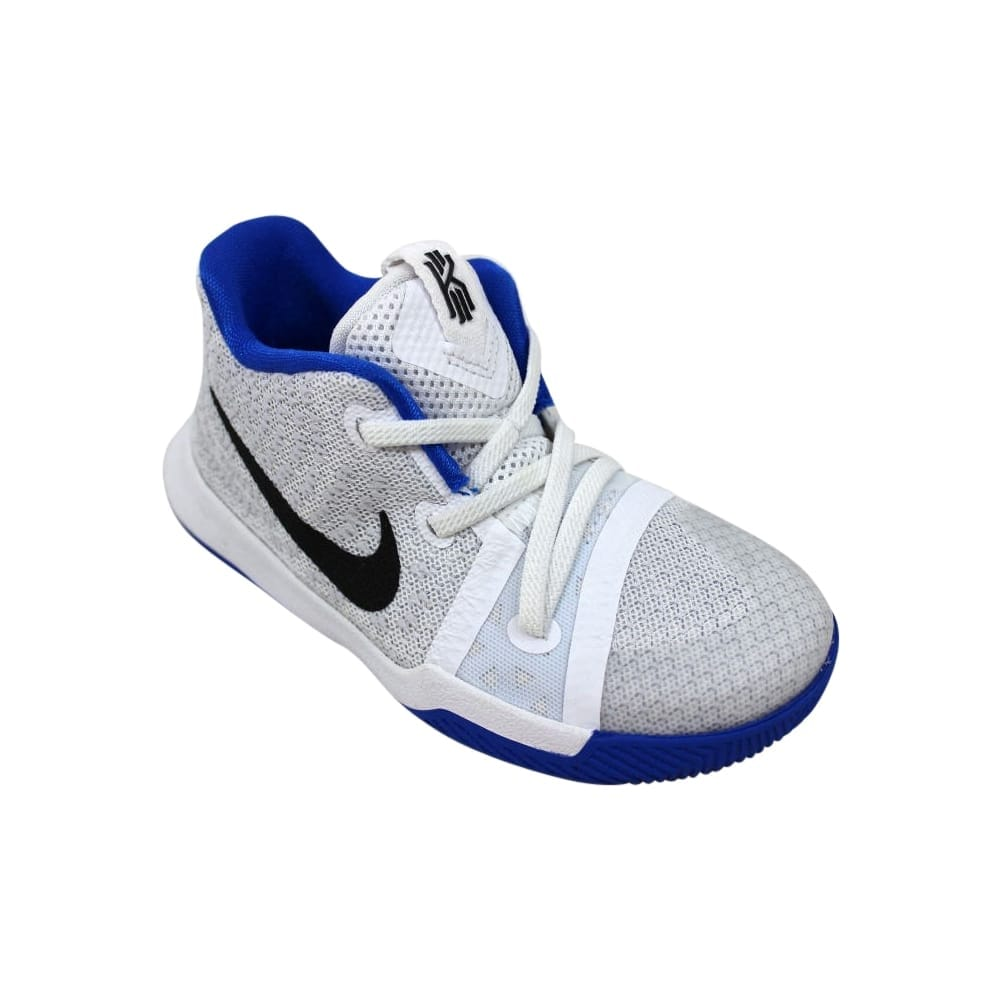 e865eb651dfb Shop Nike Kyrie 3 White Black-Hyper Cobalt 869984-102 Toddler - Free  Shipping Today - Overstock - 27731324
