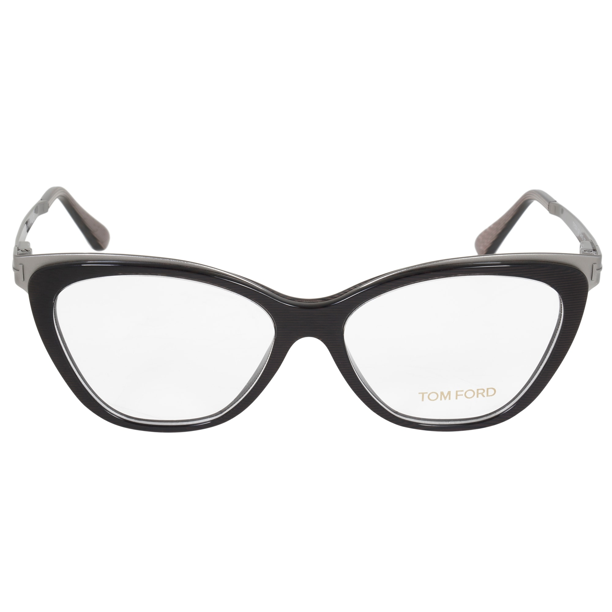 807845bb8e2 Shop Tom Ford Metal Slight Cat Eye Eyeglasses FT5374 020 54 - Free ...