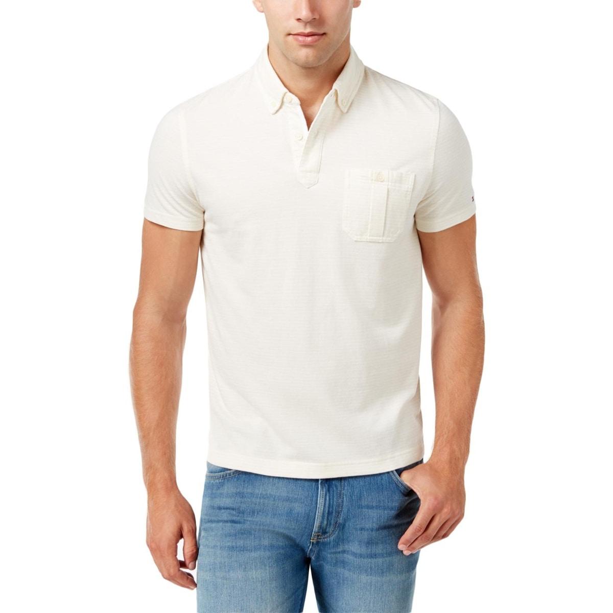 Shop Tommy Hilfiger Mens Polo Shirt Custom Fit Shadow Stripe Free