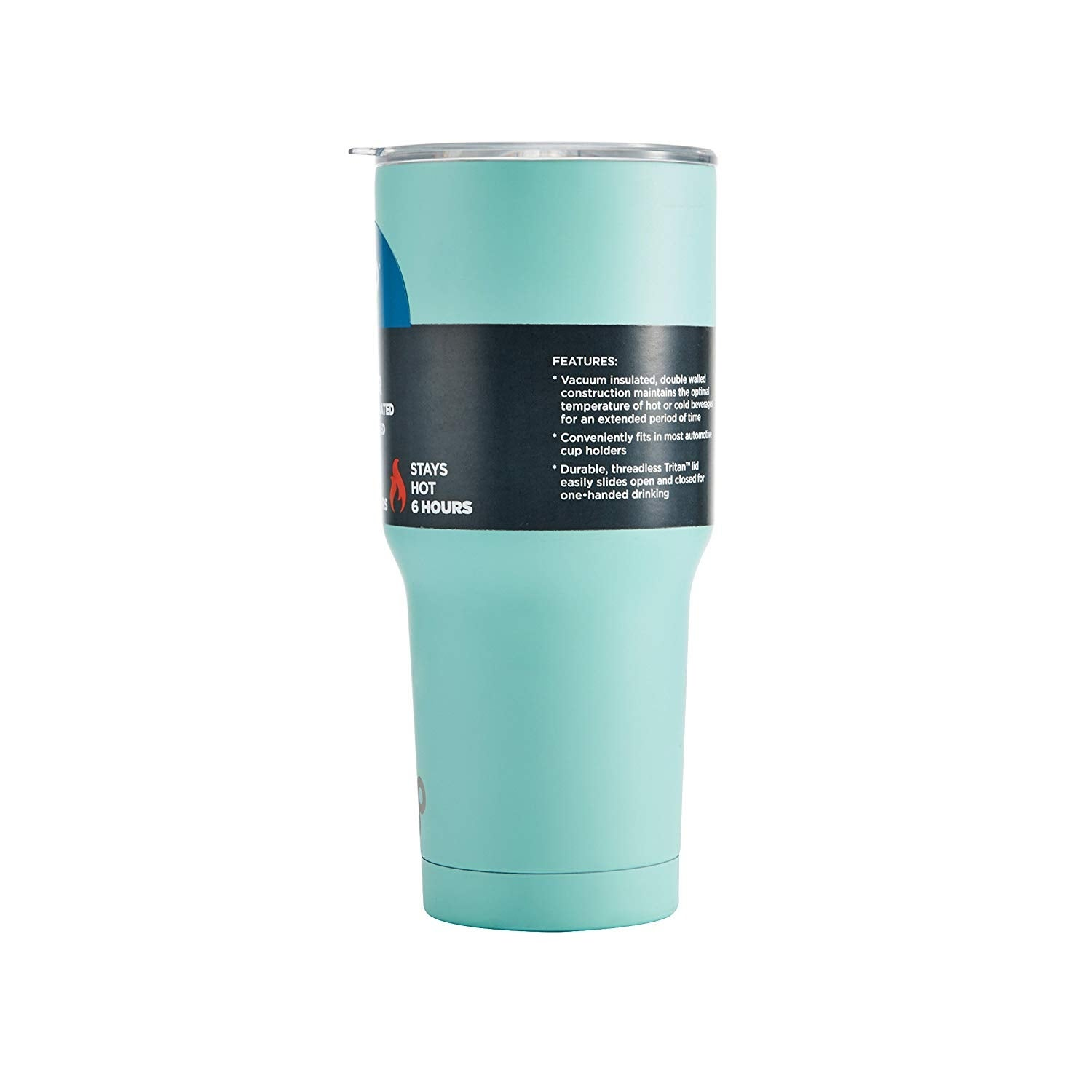 8c1ad7d8bd9 Shop BYO Double Wall Stainless Steel Vacuum Insulated Tumbler With Spill  Proof Durable Tritan Lid 30 Oz - Matte Aqua - Matte Aqua - Free Shipping On  Orders ...