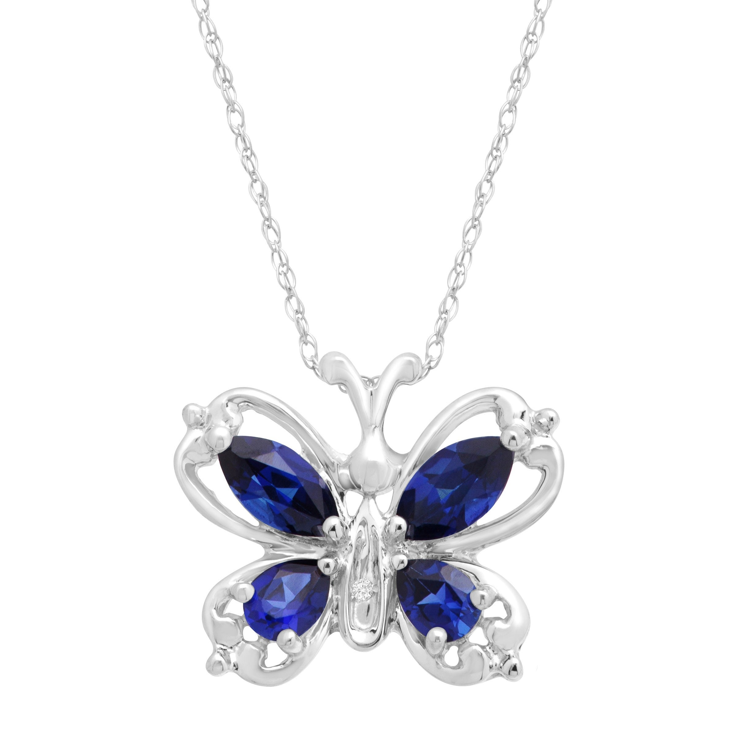 gold necklace diamond il butterfly sapphire women products pendant pave wedding fullxfull