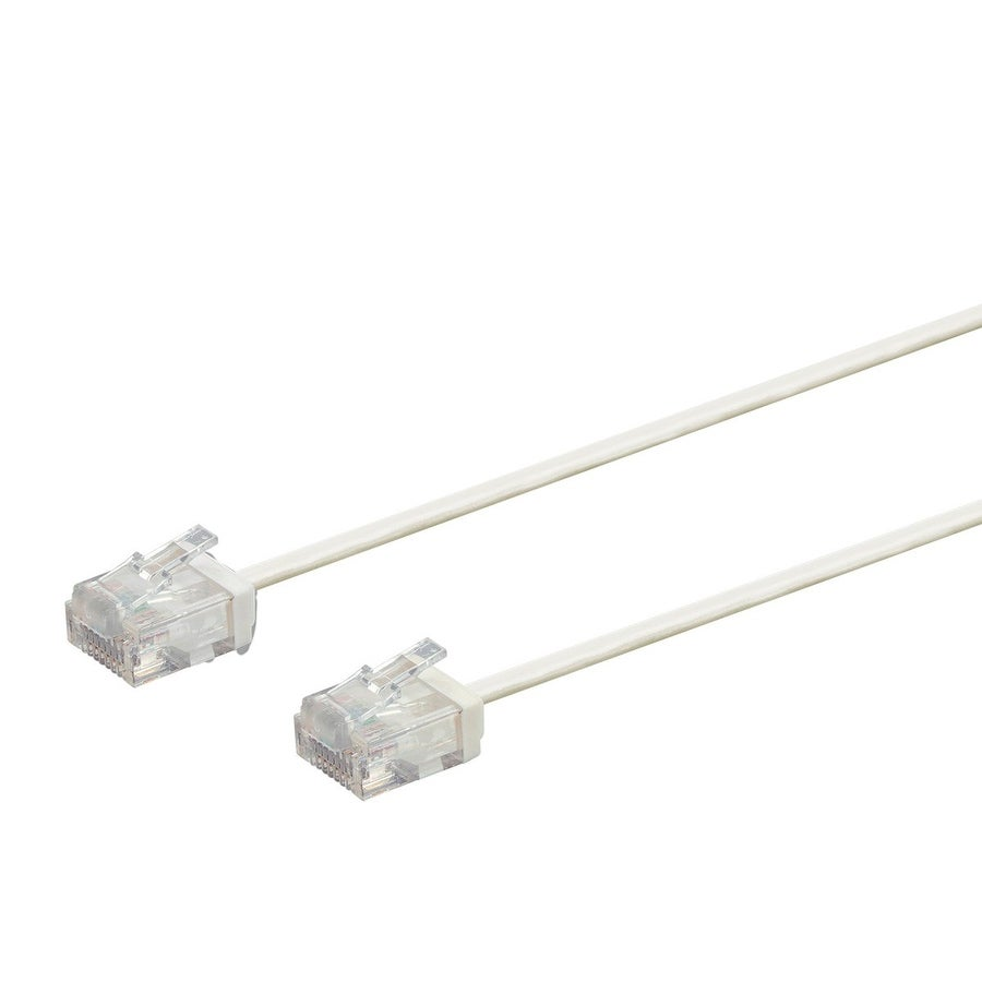 Shop Monoprice Cat6 Ethernet Patch Cable 30 Feet White Cat 5e Bootless Cables Cat5e Black 6 Stranded 550mhz Utp Free Shipping On Orders Over 45 24241240