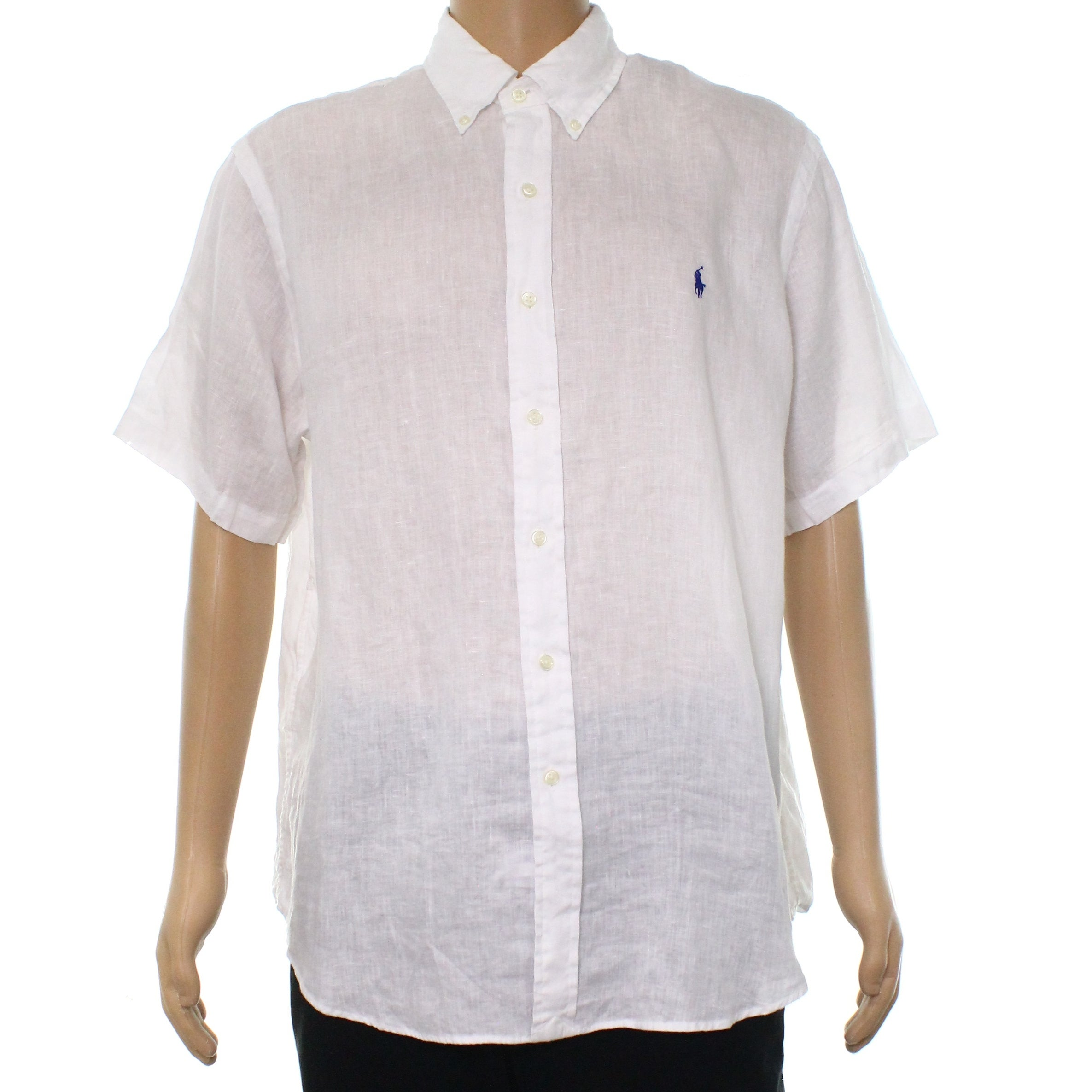 e4c4abfb9 Ralph Lauren Mens White Button Down Shirt – EDGE Engineering and ...