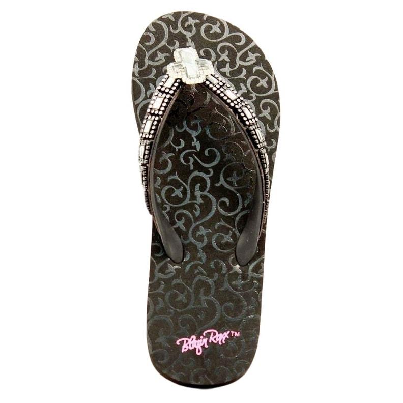 ca213e59631aa2 Shop Blazin Roxx Western Shoe Women Leanne Flip Flop Sparkle Cross - Free  Shipping On Orders Over  45 - Overstock - 20101258
