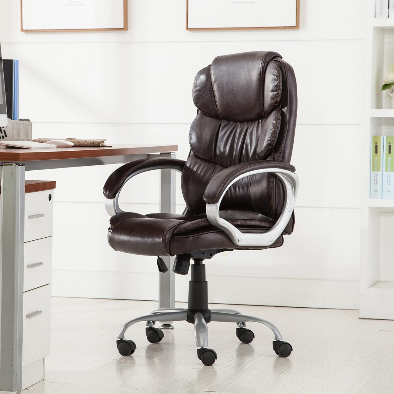 shop belleze executive office chair ergonomic padded armrest