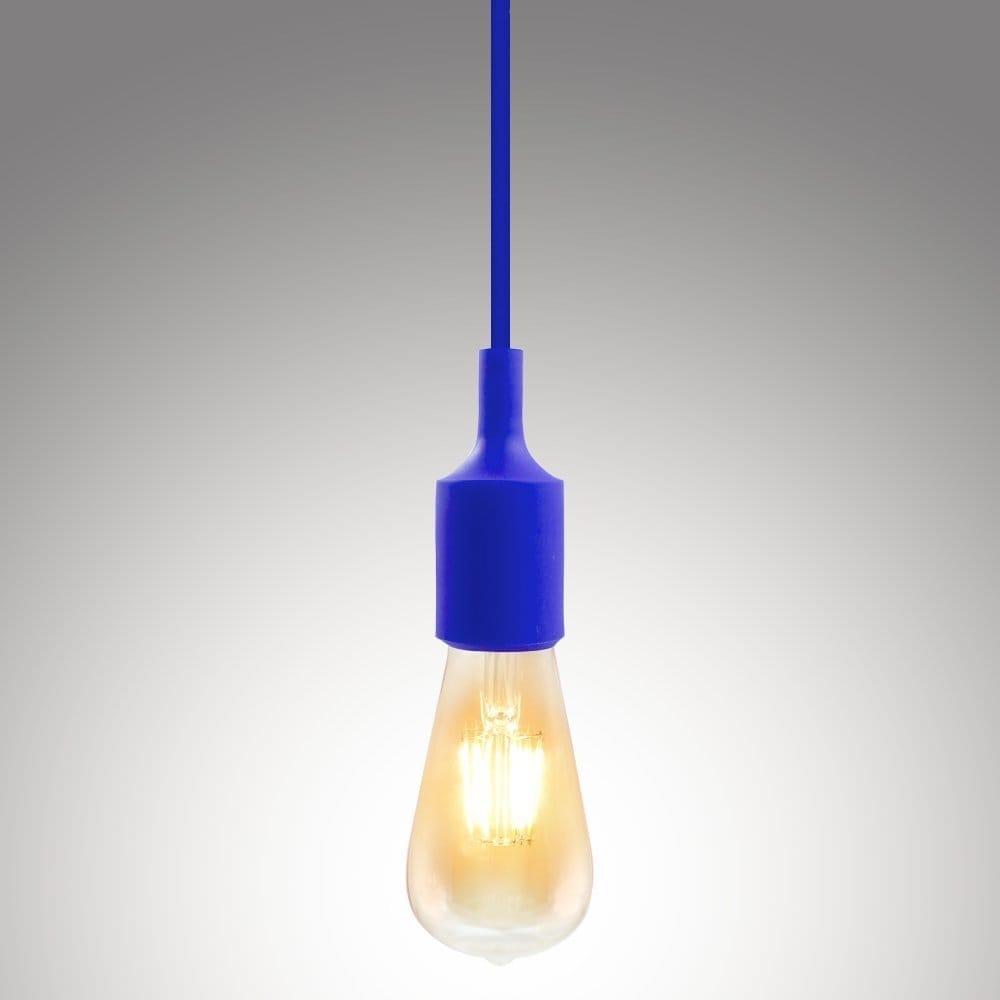 Shop Ul Listed Single Socket Pendant Light Fixture Multi Color Lamp Holder E27 Textile Insulating Cord Silicon E26 Ships To Canada