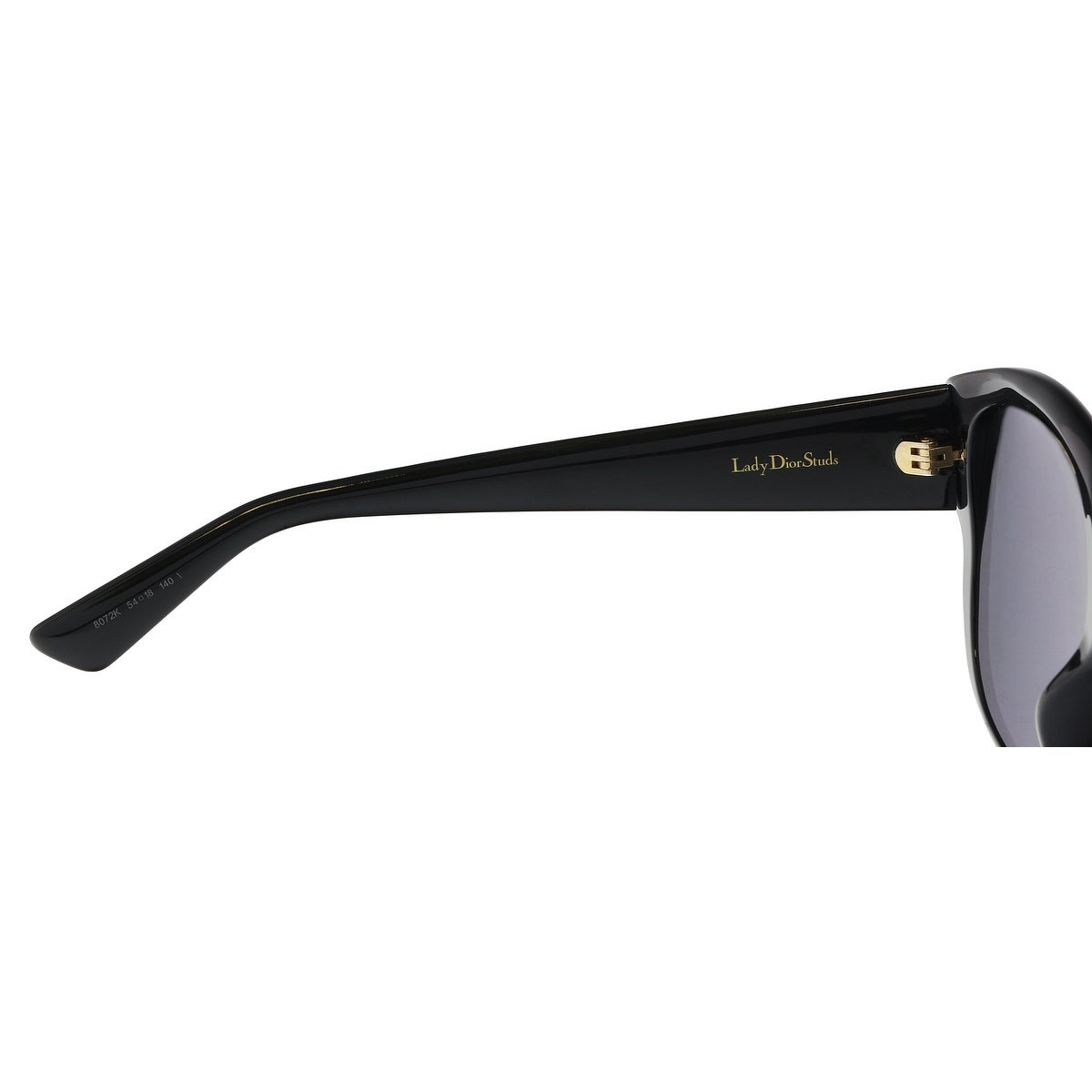 8852b50c1e Shop Christian Dior LADYDIORSTUDS 0807 Black Square Sunglasses - 54-18-140  - On Sale - Free Shipping Today - Overstock - 21158010