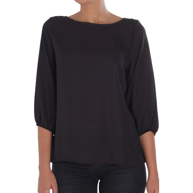 016fb61fae0 Humble Chic Bow Back Blouse - Long Sleeve Chiffon Top Backless Tunic Shirt