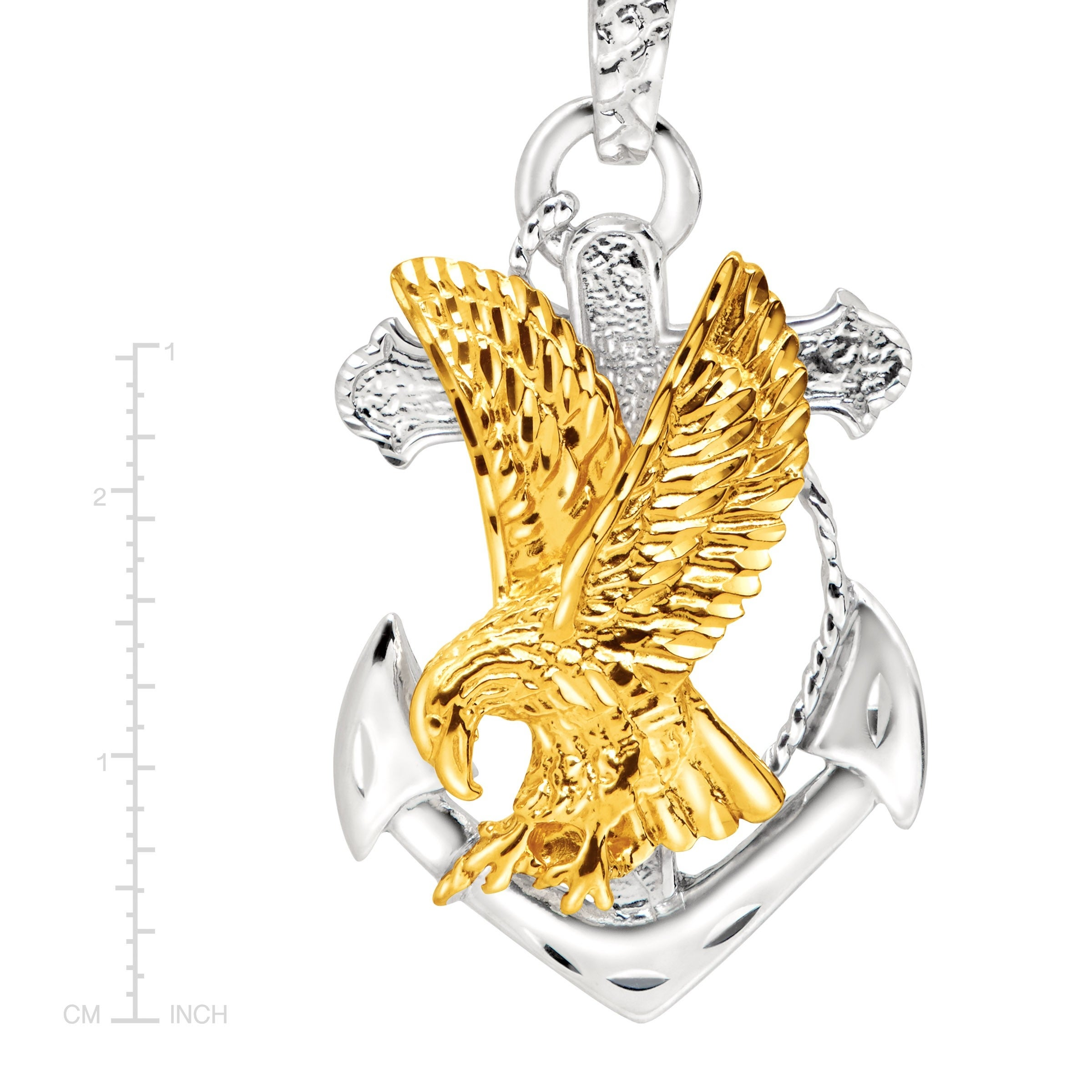 jewelry s yellow gold palmbeach products at men eagle rope tone cfm pendant detail necklace mens chain