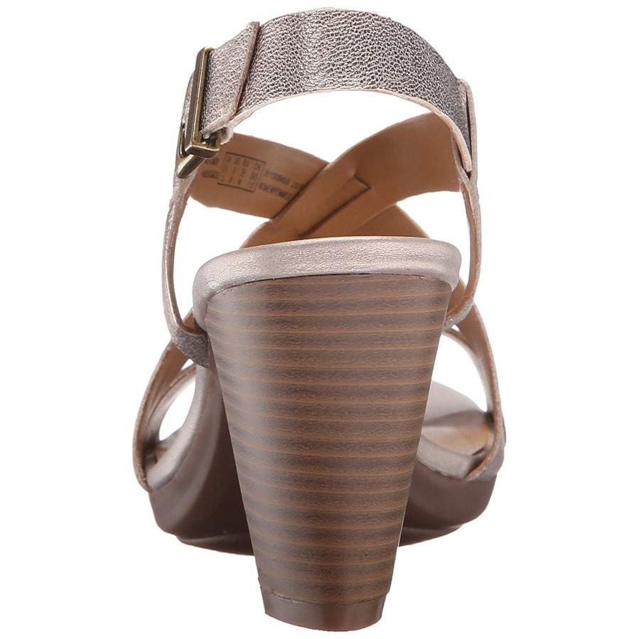 4fde91ca759 Shop Clarks Womens Jaelyn Fog Leather Open Toe Casual Ankle Strap Sandals -  Ships To Canada - Overstock - 17674622
