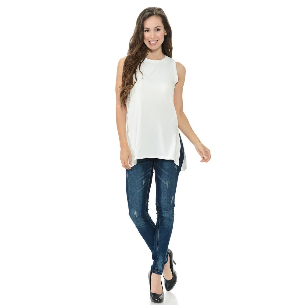 05f5a18f05 Shop Diamante Fashion Women's Top - Style D160 - Color - White - Size -  Large - Ships To Canada - Overstock - 25353354