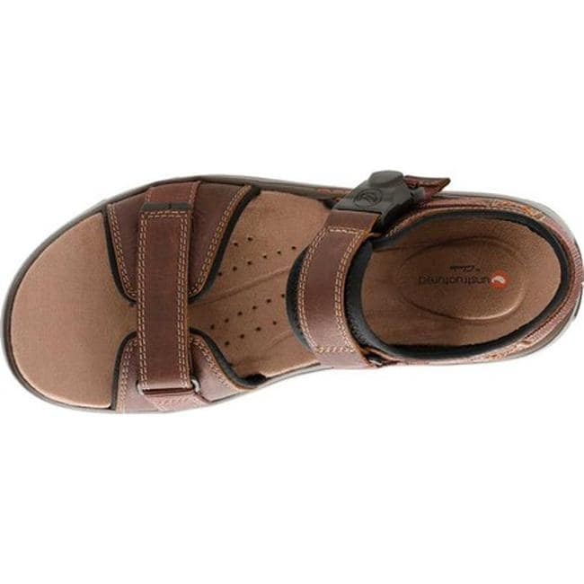 7e5173434b Shop Clarks Men's Un Trek Part Active Sandal Dark Tan Full Grain Leather -  Free Shipping Today - Overstock - 25625881