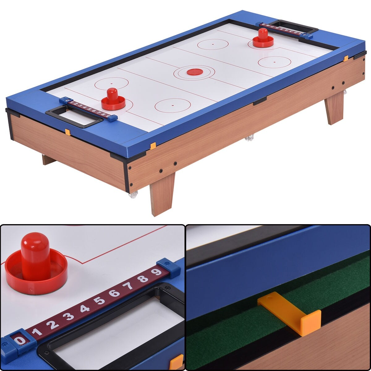 Shop Costway 4 In 1 Multi Game Air Hockey Tennis Football Pool Table  Billiard Swivel Indoor   On Sale   Free Shipping Today   Overstock.com    17155140