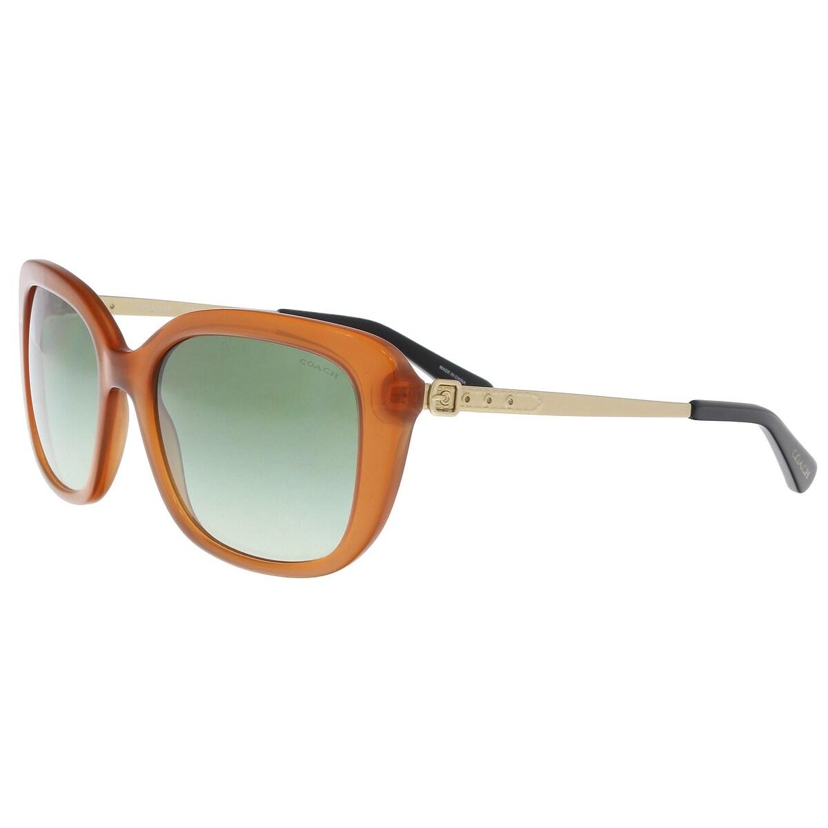 fcf7227b8bab ... greece shop coach hc8229 55028e amber rectangle sunglasses 55 18 140 on  sale free shipping today