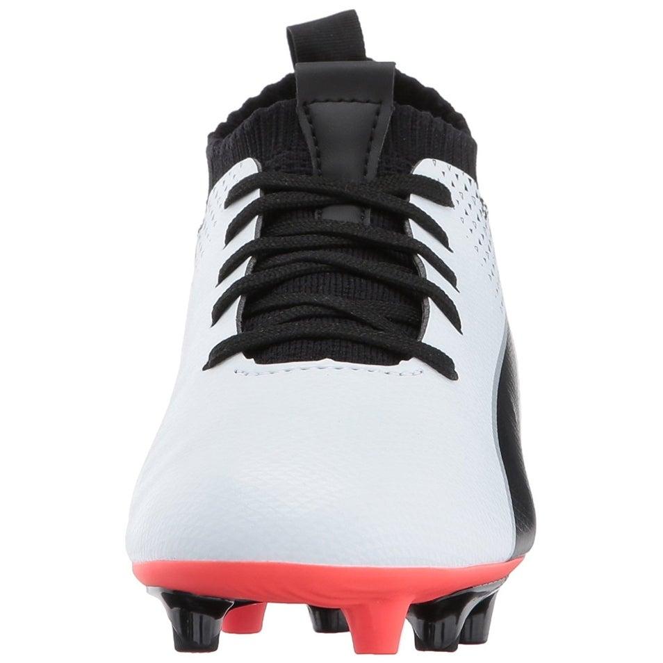 041144b66 Shop PUMA Kids' Evoknit FTB FG Soccer Shoe, White, Size 4.5 M US Big Kid -  4.5 m us big kid - Free Shipping On Orders Over $45 - Overstock - 22088846