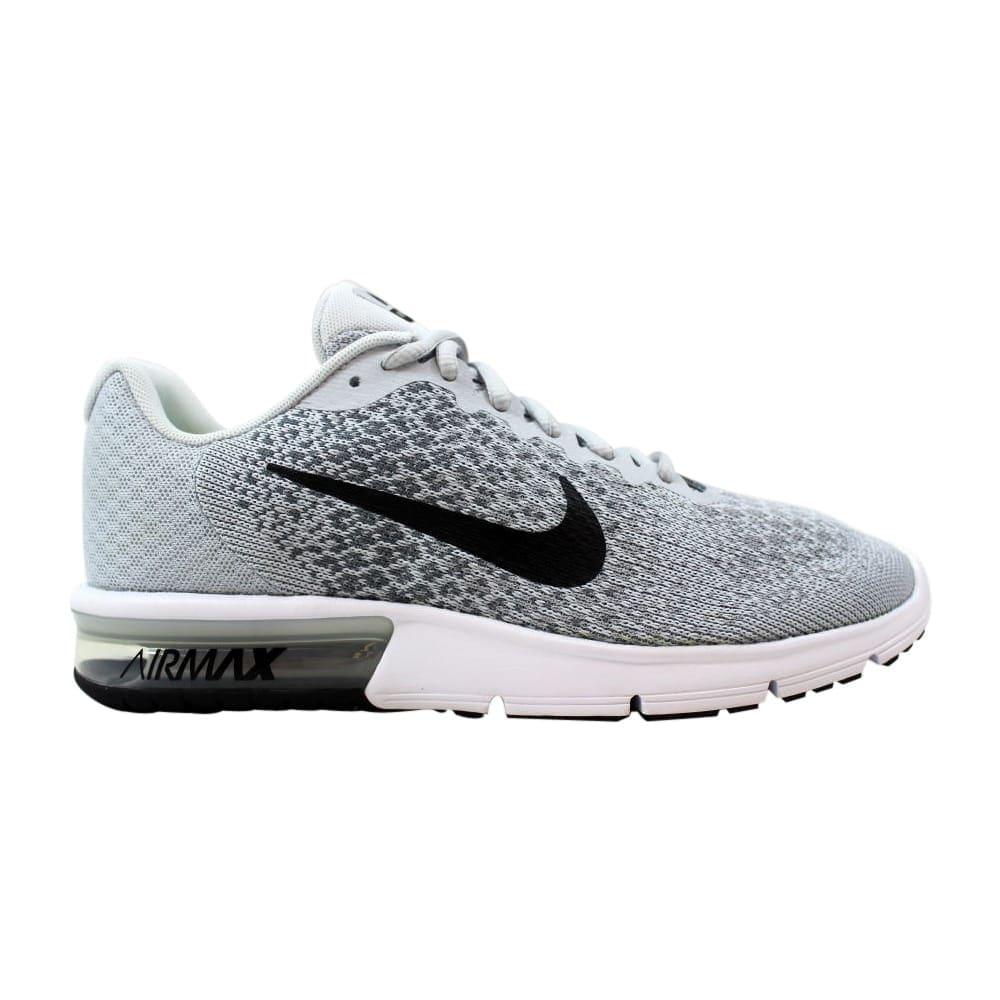size 40 1c223 174c5 Nike Air Max Sequent 2 Pure Platinum Black-Cool Grey 852461-002 Men s
