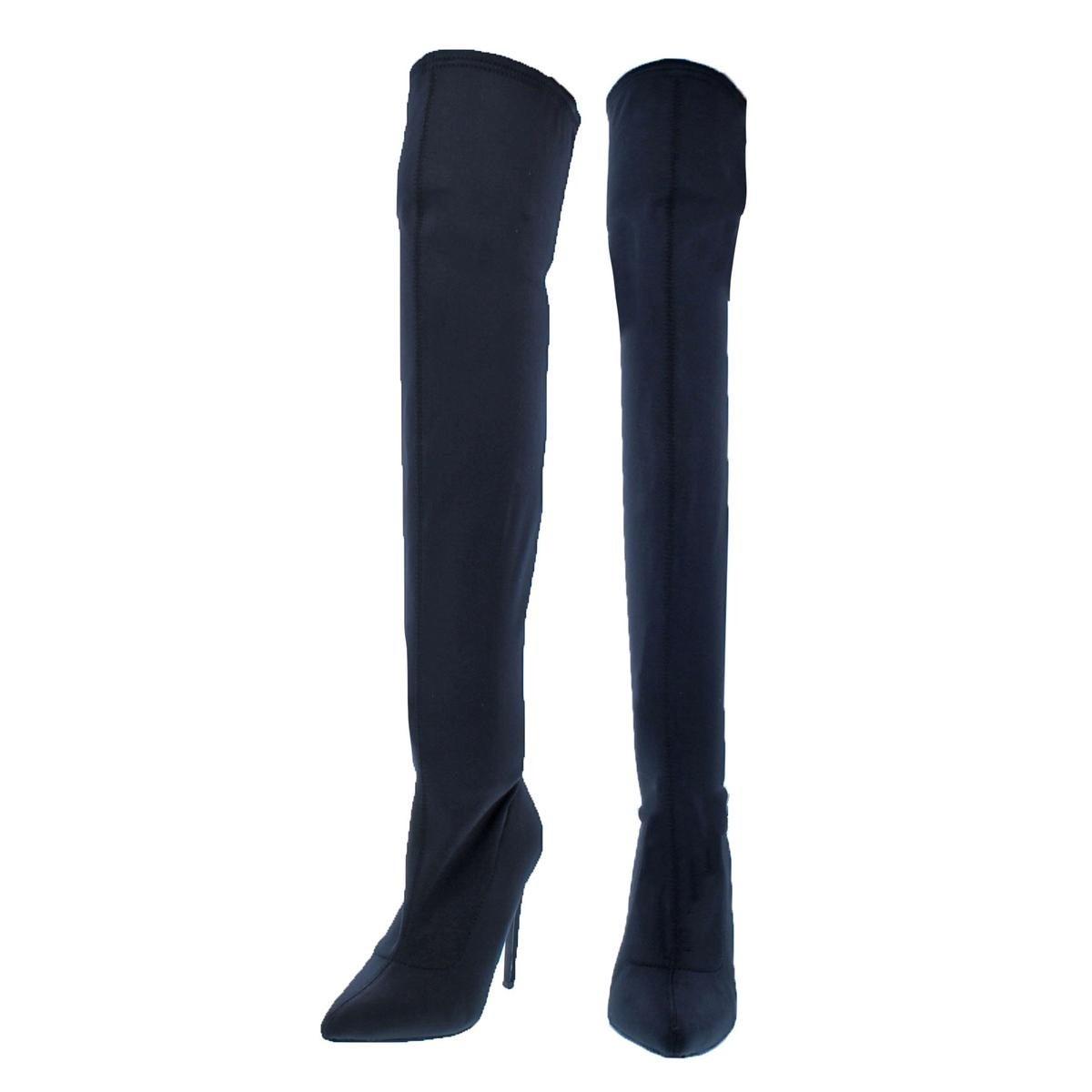 3a10053e221 Shop Steve Madden Womens Slammin Over-The-Knee Boots Pointed Toe Stiletto -  6.5 Medium (B