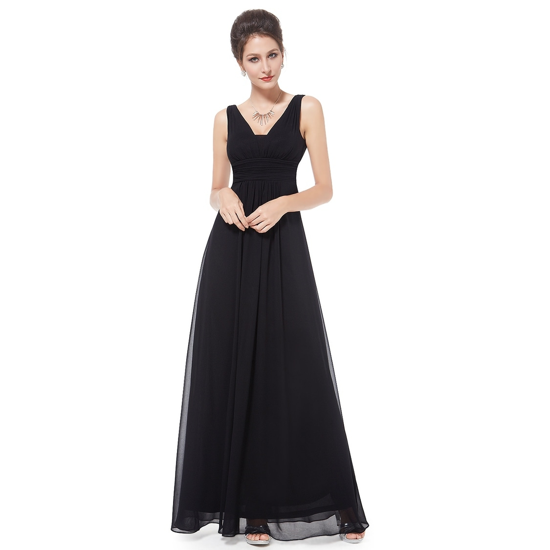adc87ef3f48 Shop Ever-Pretty Women s Elegant Deep V-neck Long Evening Dress 08110 - On  Sale - Free Shipping On Orders Over  45 - Overstock - 25625535