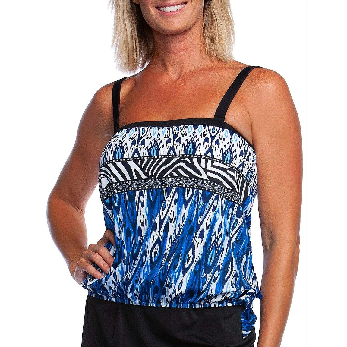 Maxine Of Hollywood Womens Bandeau Tankini Swimsuit Top Tankini Top