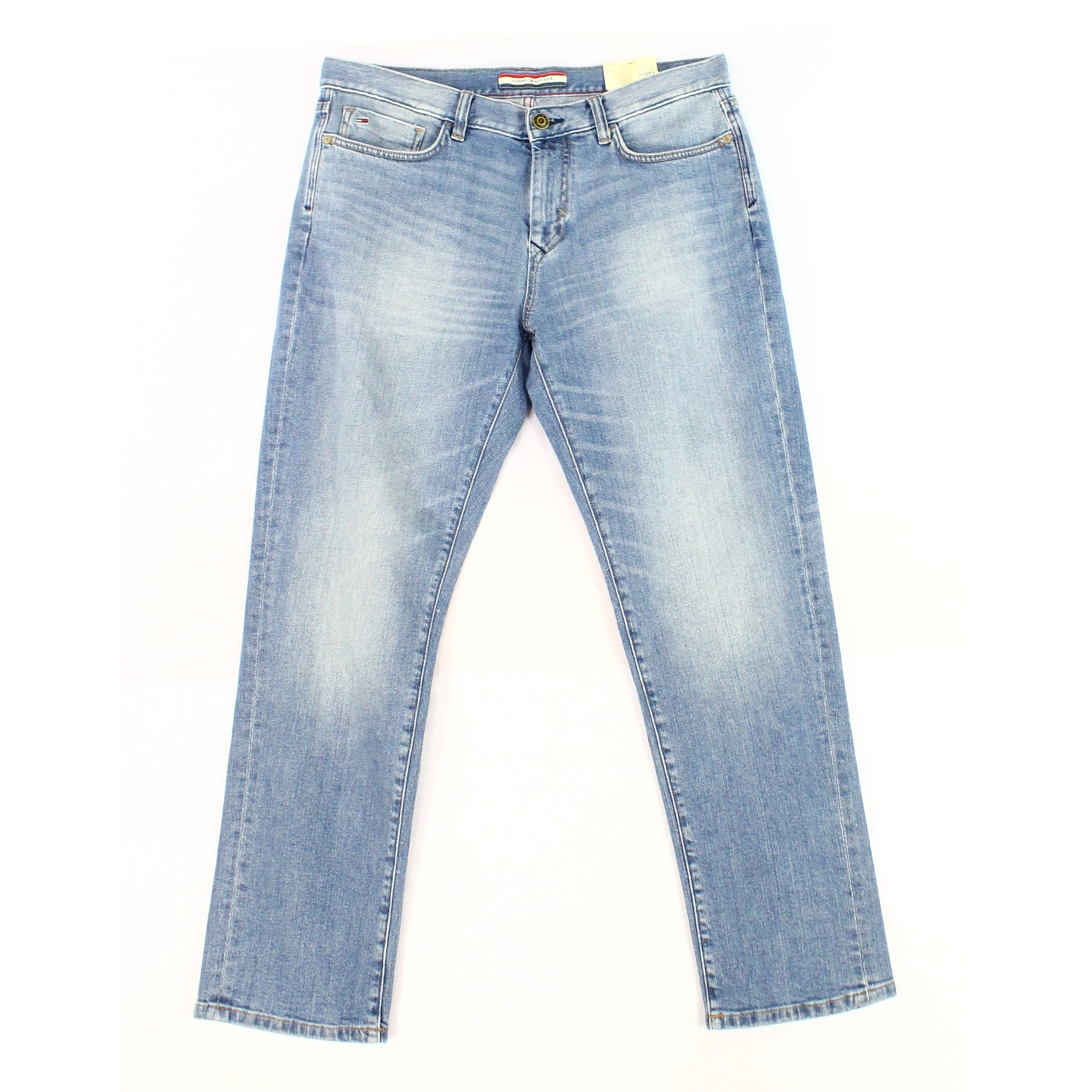 dc9618fe Shop Tommy Hilfiger Blue Mens Size 32X32 Slim Athletic Fit Stretch Jeans -  Ships To Canada - Overstock - 27996710