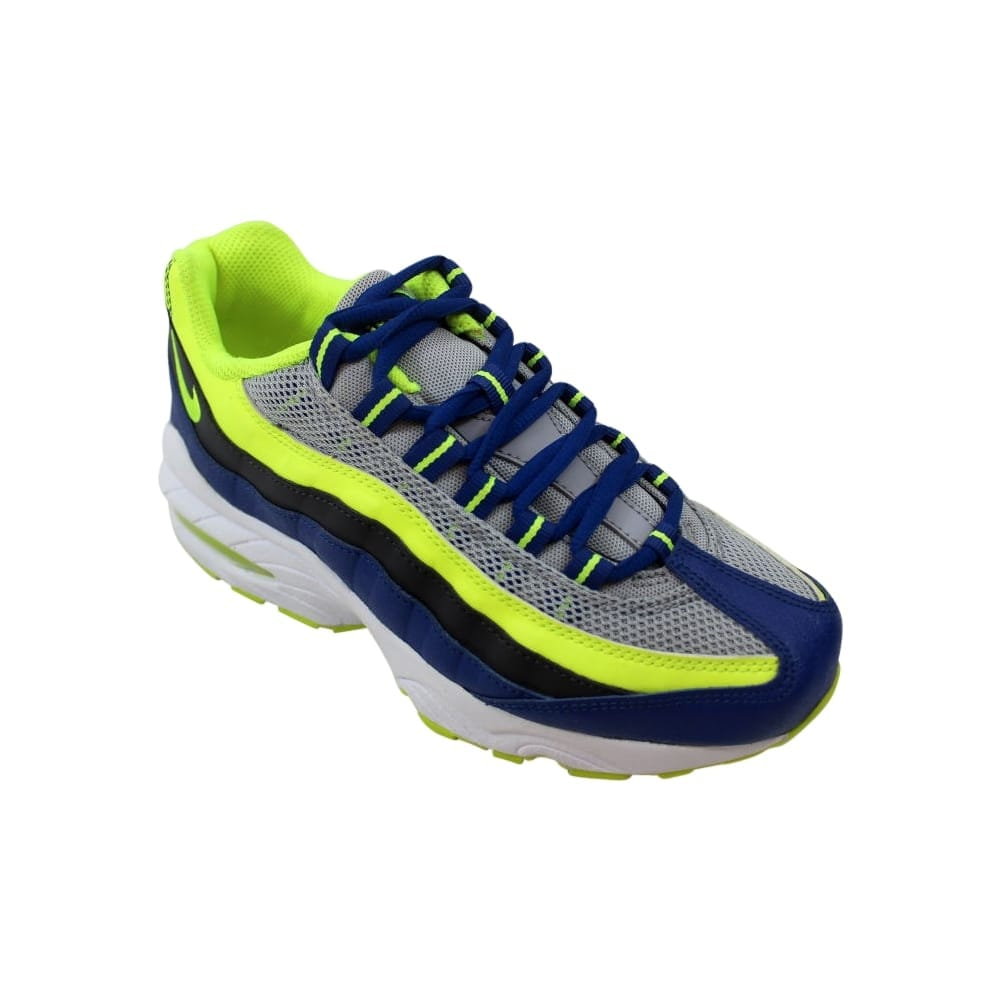 detailed look b7e29 1cff9 Shop Nike Air Max  95 Wolf Grey Volt-Gym Blue-White 307565-084 Grade-School  - Free Shipping Today - Overstock - 27993550